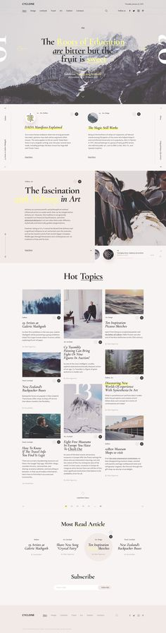 Cyclone Blog and Magazine Free Web Template PSD