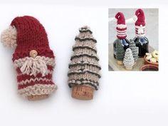 Père Noël et sapins de Noël au point mousse et en jersey, pour Noël, en DROPS Nepal. Modèle gratuit de DROPS Design.