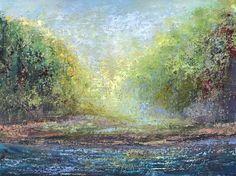 "On the River.2, 30""x40"", oil. Peg Bachenheimer"