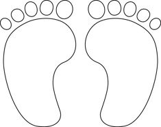 This Baby Feet Digital Stamp is Perfect For Projects to Welcome a New Baby: Baby Feet Free Digital Stamp