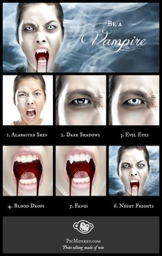 Transform yourself into a vampire, step by easy step. PicMonkey's got effects…