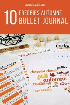 Free printable spécial Automne pour votre bullet journal