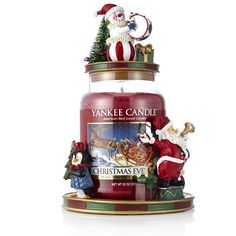 Yankee Candle Christmas Circus Jar Holder Topper & Large Jar order online at QVCUK.com