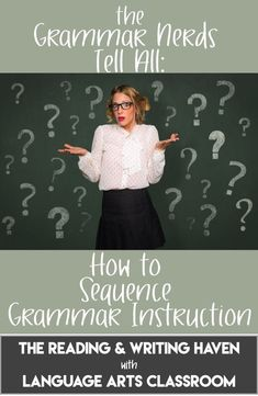 The Grammar Nerds Tell All: How to Sequence Grammar Instruction Need inspiration and guidance for sequencing grammar concepts? Melissa & Lauralee share their thoughts, including test prep ideas. Grammar And Punctuation, Teaching Grammar, Grammar Lessons, Teaching Writing, Teaching English, Teaching Ideas, Writing Resources, Grammar Games, Vocabulary Games