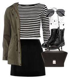 """""""Outfit with a mini skirt for autumn"""" by ferned ❤ liked on Polyvore featuring Marc Jacobs, River Island, H&M, yeswalker, Forever 21 and Dorothy Perkins"""