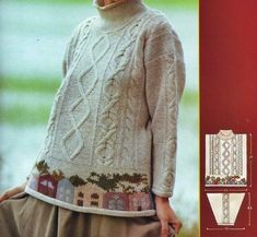 master knit Free Aran Knitting Patterns, Knitting Designs, Knit Patterns, Fair Isle Knitting, Knitting Yarn, Woolen Tops, Dressmaking, Lana, Knitwear