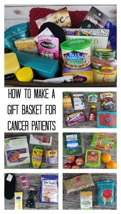 Gift basket for a cancer patient - chemo gift basket ideas