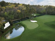 Augusta National hosts the Masters Golf Tournament. This is where my DH would like to be this week.