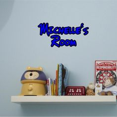 Vinyl wall decal/nursery wall decal/child's name wall decal/child's playroom wall decal
