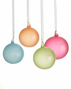 Jim Marvin Bubble Gum Ball Christmas Ornaments