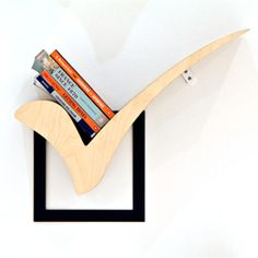 Check Mark Bookshelf by Jongho Park. #dwellinggawker