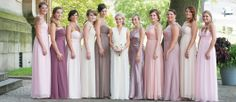 Lovely bridesmaid palette - WHIRL Real Weddings