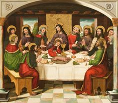 Catholic Art, Religious Art, The Last Supper Painting, Paintings Of Christ, The World Tarot, Interior Design History, Lords Supper, Images Of Christ, Christian Devotions