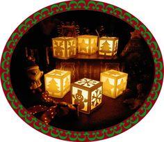 ランタン,クリスマス,星,トナカイ,雪だるま,雪の結晶,ツリー,工作, 作り方、折り紙、切り紙、型紙、図案,