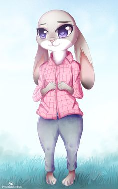 I really like Judy's pink shirt with gray pants. It looks cute and lovely. Walt Disney, Disney Love, Disney Art, Like Animals, Animals And Pets, Zootopia Judy Hopps, Zootopia Movie, Nick And Judy, Disney Pixar Movies