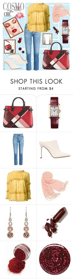 """""""New Chic"""" by andreamilles ❤ liked on Polyvore featuring Burberry, Cartier, AG Adriano Goldschmied, Sergio Rossi, Étoile Isabel Marant, Forzieri, Karen Millen and LAQA & Co."""