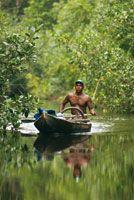 Los caños que atraviesan los manglares de Cispatá son una importante vía de comunicación para la población local.