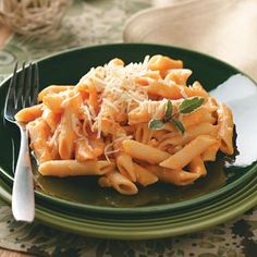 Pasta with Creamy Sweet Potato Sauce. I like the added ingredients in this one over the other one I tried.