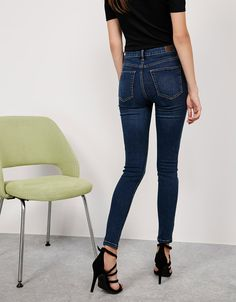 Jean skinny taille haute - Jeans - Bershka France