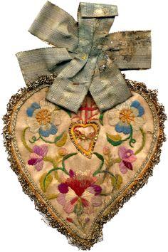 Ex voto shaped as a heart in Santa Maria del Popolo, Enna