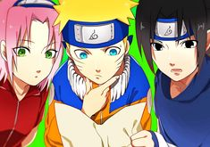 The name, Team 7 is too boring for the flamboyant group of friends, naruto, sasuke and sakura. Poor kakashi, he's going crazy because of his crazy students. Credits to: Hulkishpower Naruko Uzumaki, Naruto Shippuden, Boruto, Narusasu, Naruto Team 7, Naruto And Hinata, Anime Naruto, Charles Manson, Read Anime