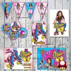Kit Soy Luna Invitaciones, Stickers, Banderín Tarjetitas Y +