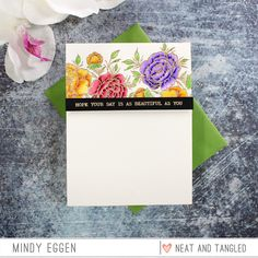 Neat & Tangled is celebrating STAMPtember® with exclusive product just for you! There are very limited quantities available of this stamp set and it is ONLY available at Simon Says Stamp this STAMPtember while supplies last. Cloud Stencil, Large Floral Arrangements, Scrapbook Blog, Neat And Tangled, Card Making Tips, Rainbow Paper, Distress Oxide Ink, Simon Says Stamp, Watercolor Cards