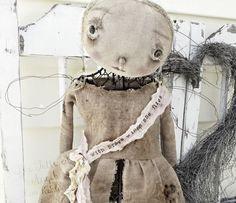 Tattered Angel Standing Mannequin Cage Doll Metal Industrial Steam Punk Dirty Primitive Hand Made Fabric ooak Veenas Mercantile Kim Kohler Pop Art, Primitive Doll Patterns, Look Older, Art Dolls, Dolls Dolls, Primitive Pumpkin, Primitive Stitchery, Primitive Crafts, Primitive Christmas