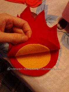 Cool DIY Charmander from Pokemon Hoodie Costume - 7