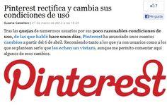 Rectifica y vuelve a cambiar las condiciones de uso en #pinterest... visto en http://blogs.grupojoly.com/redes-y-cacharros    (pinned by @jagtomas)