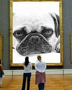 """Finally, they get my portrait right."" ・・・ www.jointhepugs.com ・・・ #pugpower #pugsnotdrugs #pugpuppy #puglover #dogs #puglovers #votepug #pugchat #cuteness #pugs #pugrequest #pugnation #dogstagram #dogsofinstagram #puppyeyes #pugstagram #pugworld #pugplanet #dogsofinstaworld #petstagram #instadog #instapug #pug #babypug #pugoftheday #pugsofinstaworld #pugsofig"
