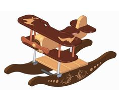 The Rocking Airplane toy plan will allow you to create a very beautiful and lasting gift for your child of years or a little older Easy Woodworking Ideas, Woodworking Projects For Kids, Diy Wood Projects, Woodworking Plans, Wood Toys Plans, Wood Plans, Rocking Horse Plans, Rocking Horses, Airplane Kids