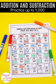 Addition And Subtraction Practice, Math Addition, Core Learning, Student Learning, Fun Math, Math Games, Daily 3 Math, Tens And Units, Daily Lesson Plan