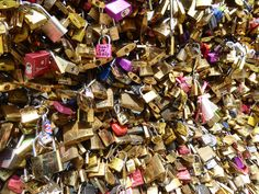 Paris's Love Locks - check out the story of these on  http://borderlesstales.com/2015/08/11/love-locks-removed-in-paris/