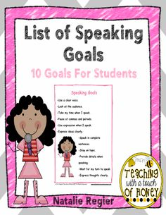 Use this list of speaking goals to help your students with the goal setting process. #freeprintables #TeacherSherpa