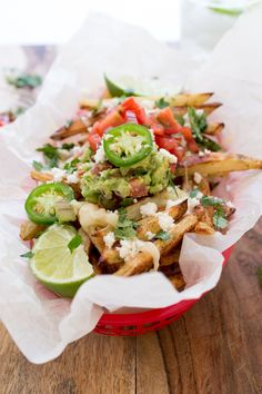 Loaded Mexican Fries http://chefsavvy.com/recipes/loaded-mexican-fries-plus-15-cinco-de-mayo-recipes/
