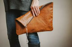 L is for Leather, Clutch