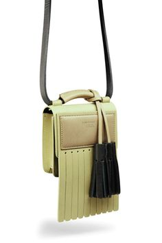 Statement box bag with cool leather tassel detail #handbag #quirky #style