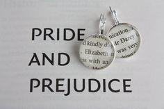 Pride and Prejudice 'Elizabeth' & 'Mr Darcy' Earrings. $20.00, via Etsy.
