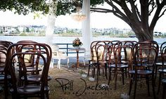 Here is a bit of inspiration on this rainy Tuesday. Would you prefer chairs, pews or bench seats for your wedding ceremony? Wedding Reception Venues, Wedding Ceremony, Bentwood Chairs, Dining Chairs, Perfect Wedding, Dream Wedding, Wedding Dreams, Restaurant, Table Decorations
