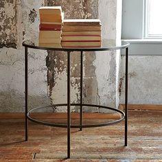 Foxed Mirror Side Table #WestElm