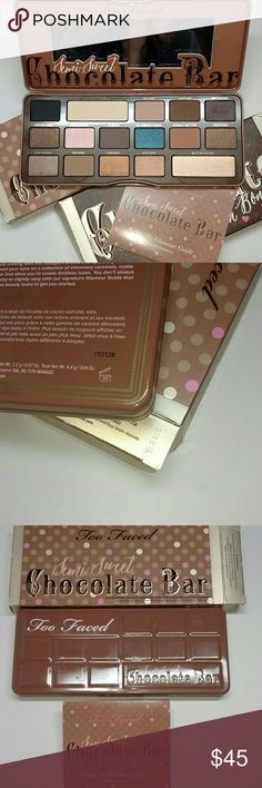 Semi Sweet Chocolate bar palette Satisfy all of your beauty cravings with the indulgent aroma and hydrating benefits of antioxidant rich Cocoa powder. Authentic as usual, brand new with box never tested or used. Trusted seller ( Check out my feedback) Same day shipping. Sephora Makeup Eyeshadow