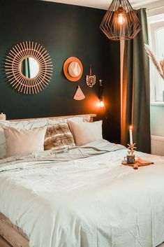 Room Ideas Bedroom, Bedroom Inspo, Home Bedroom, Master Bedroom, Bedroom Decor, Black Bedroom Design, Malm, Bedroom Styles, My New Room