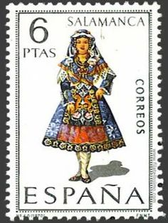 TRAJES TIPICOS ESPAÑOLES ... EN SELLOS POSTALES - Salamanca - España