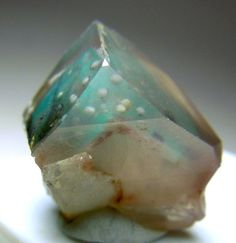 Quartz with Ajorite phantom and spheres / Messina Mine, Limpopo Province, South Africa