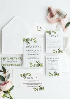 These are so easy to edit and look beautiful for my tropical theme wedding. We have tons of greenery decor and this matches perfectly. Botanical Wedding Invitations, Printable Wedding Invitations, Wedding Invitation Templates, Bridal Shower Invitations, Wedding Stationery, Invitation Cards, Invitations Online, Photo Invitations, Invitation Envelopes