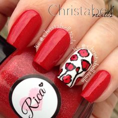.@christabellnails | Lest We Forget ... Poppy Nails for Remembrance Day Tutorial is live on YouTu... | Webstagram
