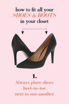 How to fit more shoes in your closet