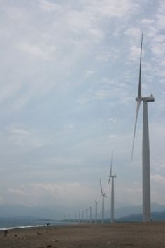Bangui Windmills (Burgos, Ilocos Norte) : The sky did not cooperate but still the place was lovely. Ilocos, Windmills, Wind Turbine, Sky, Norte, Heaven, Wind Mills, Heavens, Windmill