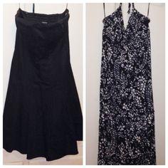 Express Dress Bundle Perfect LBD (size 4) & Black/White Maxi (size xs)! Both only worn once!! Express Dresses